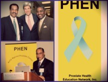 Secretary of State, John Kerry, alongside Congressman Gregory Meeks, stand in support of the fight against Prostate Cancer. Rev. Dr. Carroll A. Baltimore, speaks in favor of raising awareness for Prostate Cancer and the racial disparity among African American men.
